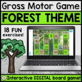 Gross Motor DIGITAL Board Game for Teletherapy (FOREST THEME)