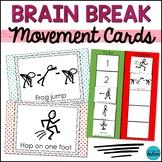 Brain Breaks Printable Cards: Gross Motor Movement for Act