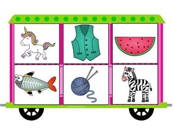 Gross Motor Preschool Alphabet Activity - On the Train