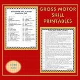 Gross Motor Skill Activity Printables