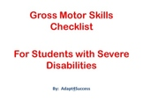Gross Motor Skills Checklist for Students with Severe Disabilities