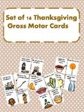 Gross Motor Thanksgiving Movement Cards