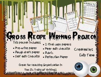 6+1 Traits: Organization: Gross Recipe Writing Project