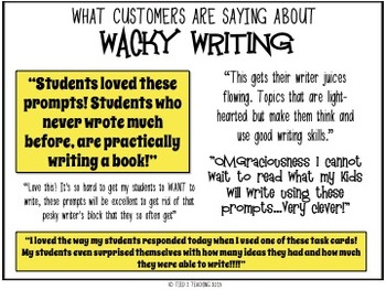 Gross Wacky Writing - E-I-E-I Oh, GROSS! Using gross facts to spur Wacky Writing