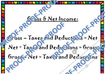 Gross and Net income Helper