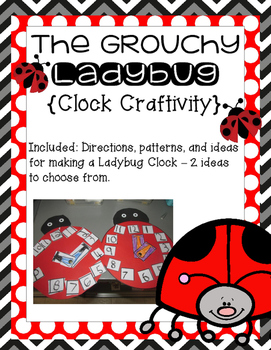 Grouchy Ladybug Clock Craftivity!