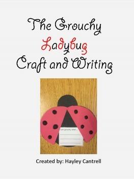 Grouchy Ladybug Craft and Writing