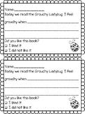 "Grouchy Ladybug ""I feel grouchy when..."" Worksheet"