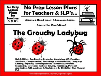 Interactive Guided Reading Lesson Plan-Daily or Weekly-Grouchy Ladybug
