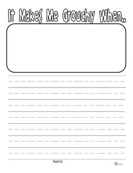 Grouchy Ladybug Writing Prompt