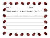 Grouchy Ladybug writing activity