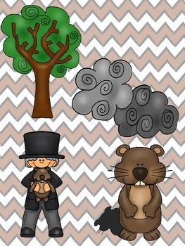 Groundhog Day Picture Match File Folder Game