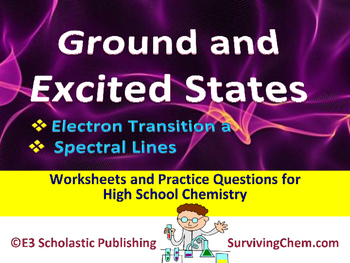 Ground & Excited States, Spectral Lines -  Worksheets & Practice Questions