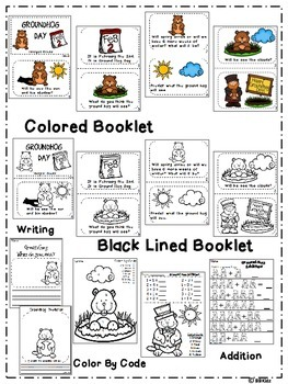 Groundhog Day Emergent Reader and Activities - {Writing, Addition & more}
