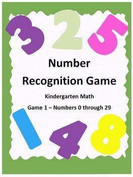 Number Recognition Game 1 - Kindergarten Math