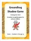 Groundhog Number Recognition 1 - Kindergarten Math