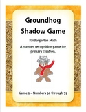 Goundhog Number Recognition Game 2 - Kindergarten Math