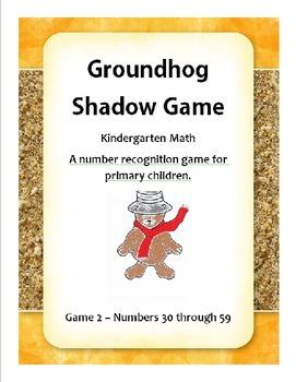 Goundhog Number Recognition Game 2 - Kindergarten Math