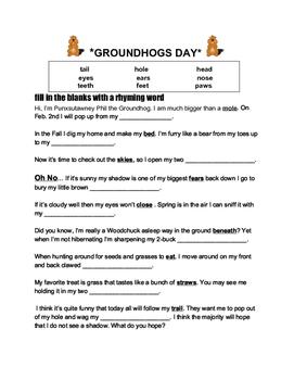 Ground Hogs Day Mad Lib