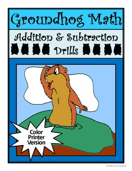 Groundhog's Day Worksheets: Groundhog Math Drills Addition & Subtraction