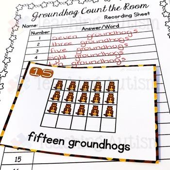 Groundhog Activities - Count the Room