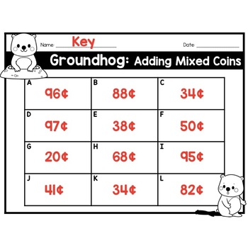 Groundhog: Adding Mixed Coins (sums within $1)