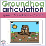 Groundhog Articulation BOOM Cards™  | Speech Therapy