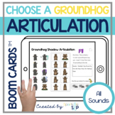 Groundhog Articulation Boom Cards™️ for Speech Therapy