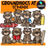 Groundhog At School Clip Art Bundle {Educlips Clipart}