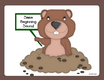 Groundhog Beginning Sounds