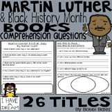 Martin Luther King and Black History Books Comprehension Questions