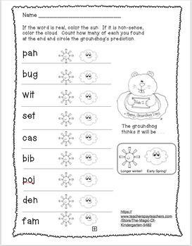 Groundhog CVC Words (revision)