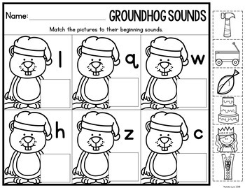 Groundhog Day Centers for Kindergarten