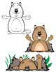 Groundhog Day - Clip Art