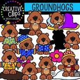 Groundhog Clipart Buddies {Creative Clips Clipart}