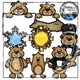 Groundhog Day Clipart Bundle