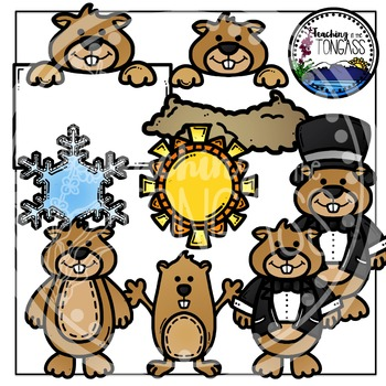 Groundhog Day Clipart Bundle