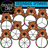 Groundhog Clipart Spinners {Creative Clips Clipart}