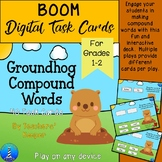 Groundhog Compound Words: BOOM Digital Task Cards