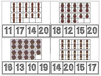 Groundhog Count & Clip Numerals 11-20