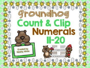 Groundhog Count & Clip Numerals 11-20