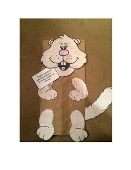 Groundhog Craftivity Puppet