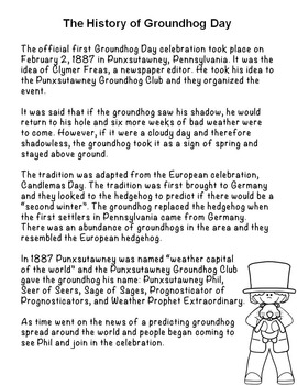 Groundhog Day Activities and Worksheets