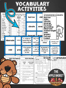 Groundhog Day Literacy Bundle for Third Graders