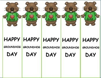 Groundhog Day Free  Bookmarks for February Activities