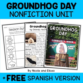 Nonfiction Unit - Groundhog Day Activities