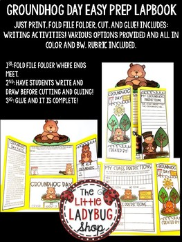 Groundhog Day Activities Lapbook- Groundhog Day Writing February Activity