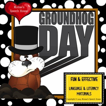 Groundhog Day Early Reader Speech Therapy