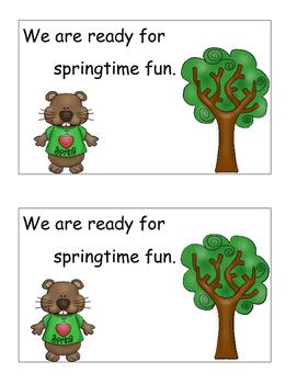 Groundhog Day Activities Poetry Emergent Reader, Cut, Paste, February Activities