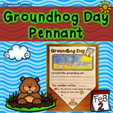 Groundhog Day Activities: Summary Pennants - Writing Craftivity